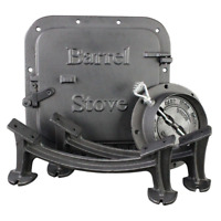 US Stove Barrel Stove Kit Heavy Duty Cast Iron Fireplace Accessories Parts New