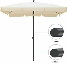 Sonnen Schirm Balkonschirm 2m Ampelschirm Sonnenschirm Gartenschirm Beige