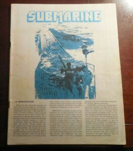 Submarine Board Game - 1962 - Replacement 32 Page Instruction Booklet