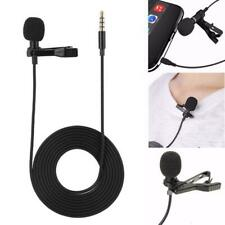 Mini Lavalier Mic Microphone For Cell Phone PC Recording 3.5mm Clip-on Lapel
