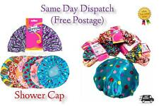 Shower Cap Women Bath Hat Hair Reusable Elastic Salon Luxury Cover Waterproof