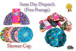 Shower Cap Women Bath Hat Hair Reusable Elastic Salon Luxury Cover Waterproof