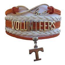 University of Tennessee Volunteers College Infinity Bracelet Jewelry Apparel