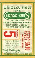 """Chicago Cubs Wrigley Field 1945 World Series Ticket Stub 24"""" Vinyl Wall Graphic"""