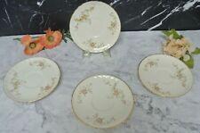 """Set 4 Of Vintage Pink Roses Pope Gosser Saucers """"Jean """"Pattern"""