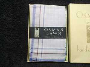 Handkerchief Osman lawn , made in England , set of 6, new with box