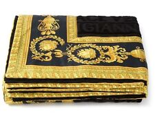 Gianni Versace Large Luxury Cotton Towel Throw Unisex Beach Towel BLACK