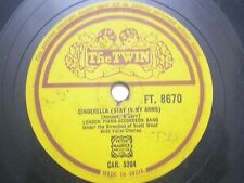 "LONDON PIANO ACCORDION FT 8670 INDIA INDIAN RARE 78 RPM RECORD 10"" YELLOW VG+"