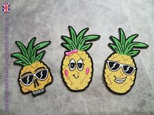 HIGH QUALITY PINEAPPLE PATCHES FRUIT DANCE HOLIDAY BEACH IRON ON APPLIQUE BADGE