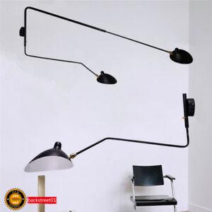 Aluminum Black Arm Rotating Wall lamp LED Bracket light For Living room Lights