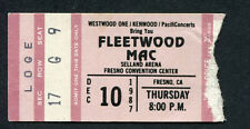 1987 Fleetwood Mac concert ticket stub Fresno Ca Tango In The Night Shake Cage