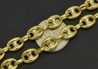 "14K Yellow REAL GOLD  Puffed Mariner Gucci Link Chain Necklace 7mm 18''20""24"""