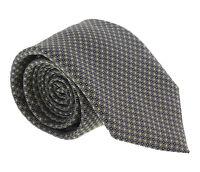Canali Black/ Yellow Micro Geometric Tie