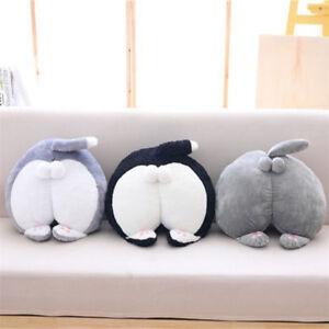 Big Cat Butt Hand Warm Stuffed Animal Doll Plush Soft Toy Gift Throw Pillow Gift