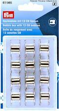 PRYM CANETTE Boîte with 12 CB métal bobines (611 985) COUTURE ACCESSOIRES