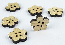 Tajadera grandes botones de madera 30mm/flower shape/laser cut/beads/sewing / Manualidades