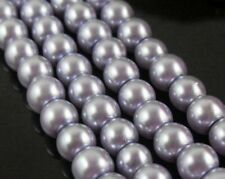 140pcs Light purple Round Czech Glass Pearl Spacers Beads 6mm
