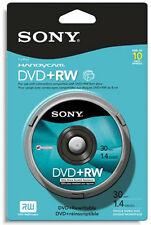 10-Pak =SONY= 3-Inch 8cm Mini DVD+RW 1.4GB 30-Min for Sony Camcorders