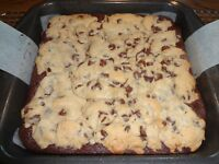 MOUTHWATERING HOMEMADE COOKIE DOUGH BROWNIES (9x9 TRAY)
