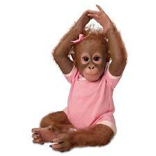 Ashton Drake - ANNABELLE HUGS monkey baby doll by Ina Volprich