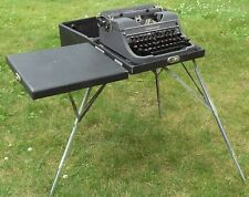 Scarce vintage Underwood Universal portable typewriter + case w/ built-in stand!