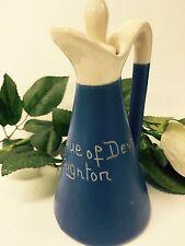 "BEAUTIFUL VINTAGE DEVON BLUE WARE OIL / VINEGAR JUG WITH STOPPER ""PAIGNTON"""