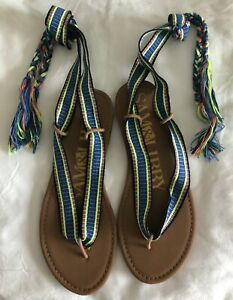 NWOB - SAM & LIBBY Blossom Wrap Gladiator Sandals Size 7 1/2 - Great Colors