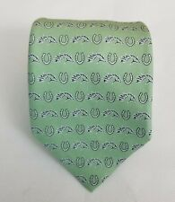 NWT Vineyard Vines Men's Green Equestrian Print Silk Necktie Neck Tie 58L 4W