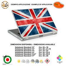 Bandiera inglese adesivo notebook tablet union jack sticker print pvc 1 pz.