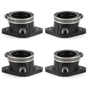 4 Intake Insulator Set w/Clamps Fit for Suzuki GS 550 E T 80-81 GS 650 E G 81-83