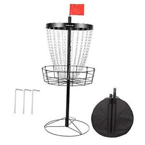 "Disc Golf Basket Sports Pro 24-Chain Portable Height 48"" Easy Assembly"