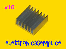 dissipatore quadrato 14x14x6 per integrati e cpu 10 pezzi (C90)