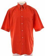 MARLBORO CLASSICS Mens Shirt Short Sleeve 2XL Red Cotton  CD10
