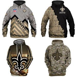 New Orleans Saints Hoodie Unisex Pullover Hooded Sweatshirt Football Jacket Tops