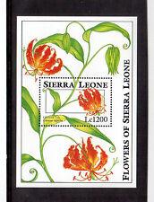 SIERRA LEONE 1993 FLOWERS, SOUVENIR SHEET #1669 VF NH !!