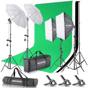 Neewer 2.6M x 3M/8.5ft x 10ft Background Support System and 800W 5500K...