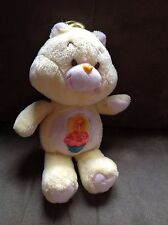 "VINTAGE 1983 CARE BEAR BIRTHDAY BEAR 13"" Cupcake Plush Doll Toy Yellow"