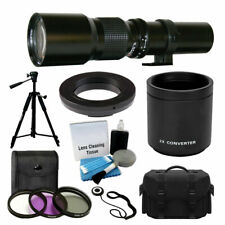500mm-1000mm Telephoto Lens for Canon DSLR Camera + 2x Multiplier + Accessories!