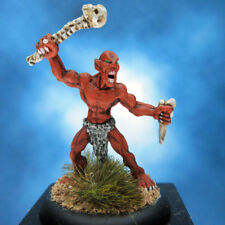 Painted Red Orc Warrior Miniature