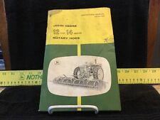 Vintage John Deere 12 & 14 Series Rotary Hoe Operators Manual. OM N97615