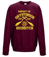 Property of gryffindor Hogwarts Quidditch Team SWEATSHIRT Harry potter Burgandy