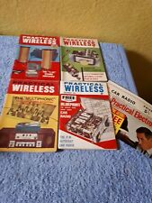 4 x Practical Wireless magazines - March, August, September & November 1964