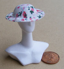 1:12 Scale Ladies Pink Crochet Hat Dolls House Miniature Clothing Accessory T6