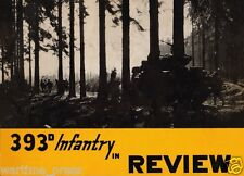 CD File 393d Infantry in Review - WWII Digital PDF Document or on CD 72 pages
