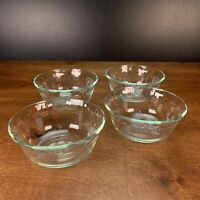 Set of 4 PYREX 10 Ounce Crimped Rim Custard Cups /Dessert Dished - 464