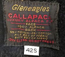 Gleneagles men's trench coat size 42 S beige luxury alpaca pile removable lining