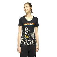 New Adidas x FARM Womens Athletic Rio Butterfly Tee Black White T-Shirt XS - XL