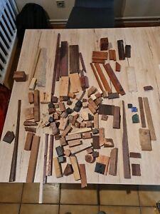 Divers bois, acajou, vavona, noyer, thuya, tournage,sculpture,coutellerie