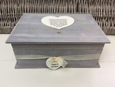Shabby RUSTIC Chic Distressed LARGE In Memory Of Dad Or Any Name Memory Box