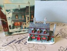 Lang & Wise Town Hall Collection Tea Shoppe #9 1998 Vtg With Original Box